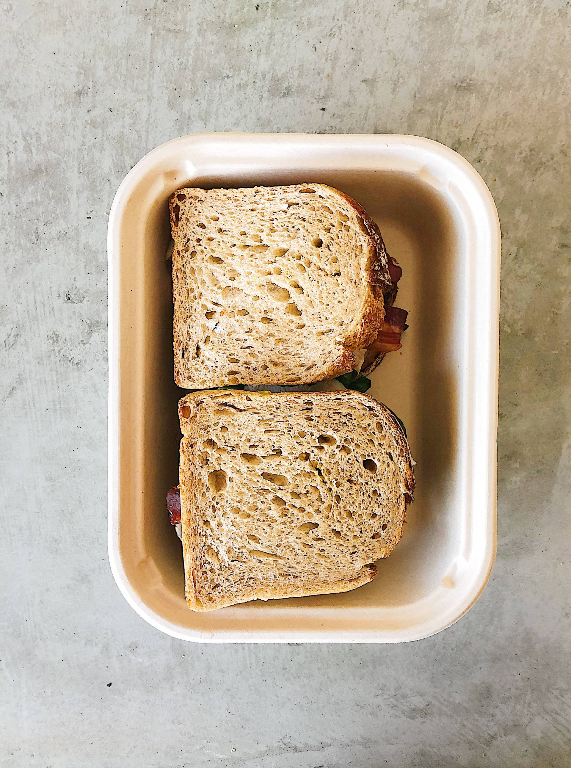 Smoked Pastrami Sandwich, kale slaw, swiss cheese, thousand island